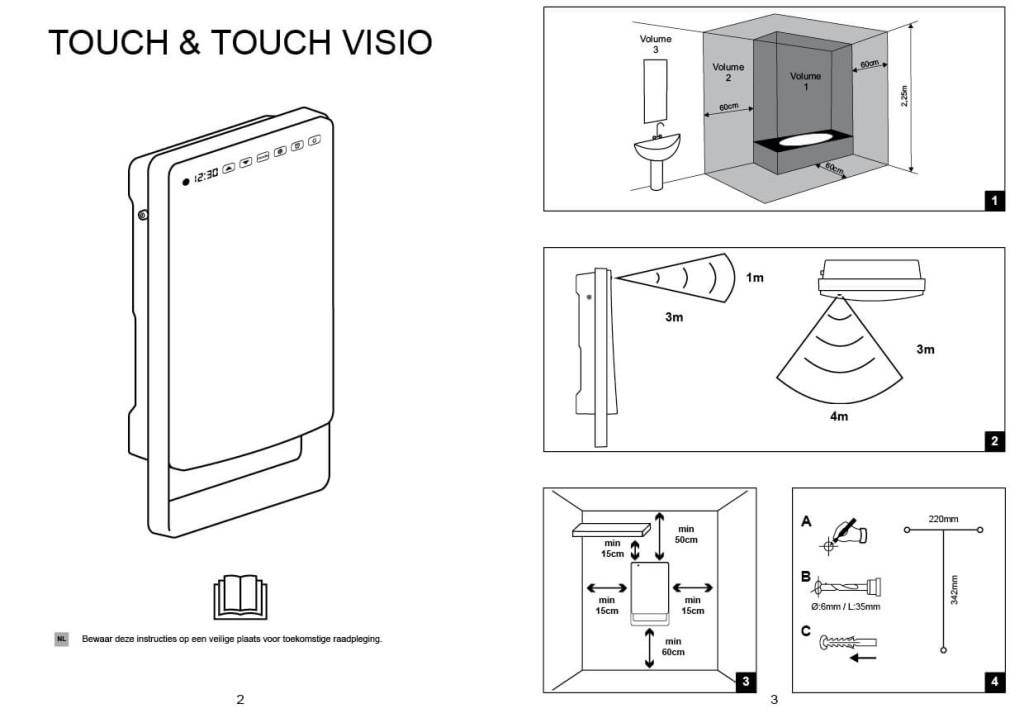 Aurora_Bathr_Fan_Heater_Touch_Gebruikersinstructie