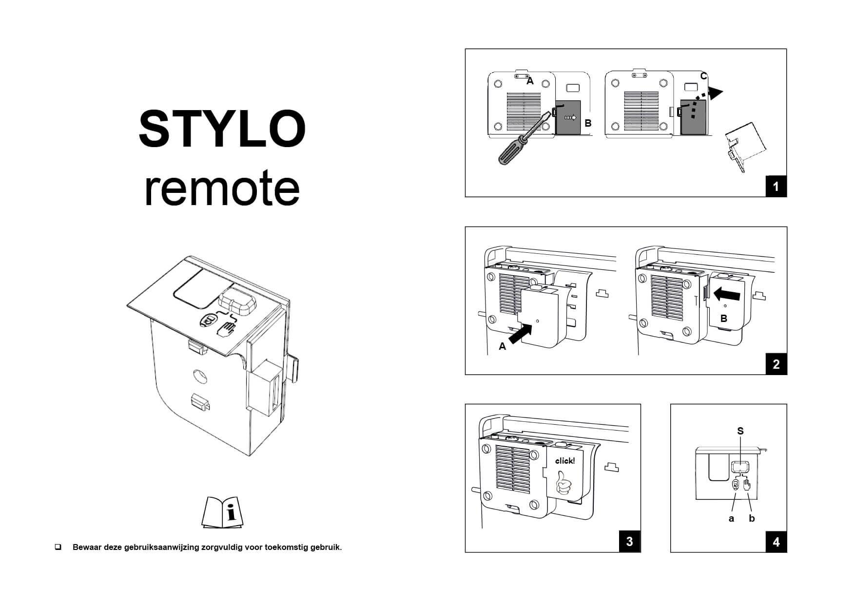 DRL_E-Comfort_Stylo_Remote_Gebruiksinstructie_Ned