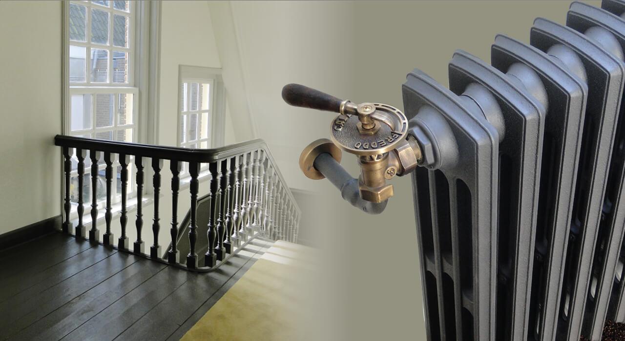 Warmteafgifte gietijzeren radiatoren