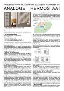 DRL_E_Comfort_Claudia_Analoog_Thermostaat_GebruikersInstructie